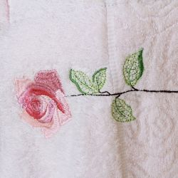 Rose Embroidery Bath Towel/Pajamas