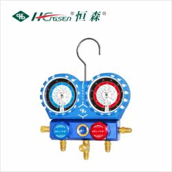 "Aluminium Manifold Gauge Sets with 36"" Charging Hose, Shock Proof, Aluminium Valve Body/ Customized Types"