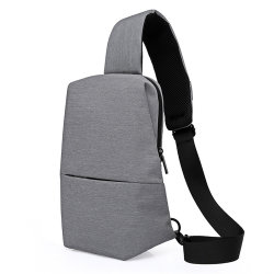 a0190091b160 Canvas Casual Sling Bags Men Solid Color Chest Pack Male Brand Designer  Stylish Cross Body Bag