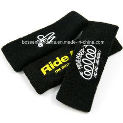 Factory OEM Custom Logo Embroidery Sport Basketball Black Cotton Towel  Sweat Headband c9e8b6499068