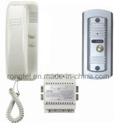 White Handset + Silver Doorbell for Villa Intercom System