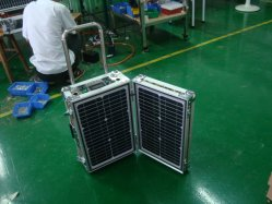 20W Solar Power System Portable Case Box with FM Radio MP3 Player