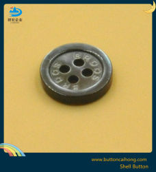 Mop Nature Black Mother of Pearl Shell Button for Garment