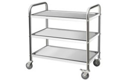 Commercial Stainless Steel Three-Layer Cart Trolleys