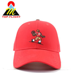 Wholesale Custom Embroidery Red Sports Cotton Hats and Caps Baseball Cap