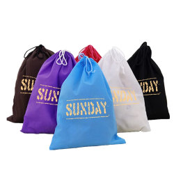 Cheap Custom Wholesale Promotion Canvas Cotton Drawstring Bag, Waterproof Mini Nylon Polyester Drawstring Laundry Bag, Non Woven School Sport Backpack Gift Bag