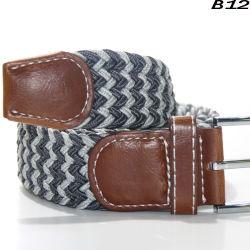 48274b160 B12 Factory Custom 2018 Newstyle Multicolor Man's Braided Stretch Elastic  Belt