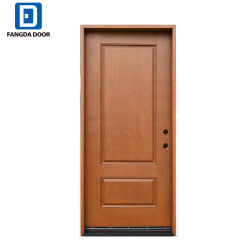Fangda House Fiberglass Door Price With Orange Peel Paint Texture