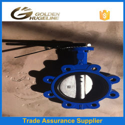 Handles Operated Cast Iron EPDM Seat Wafer Butterfly Valve