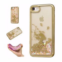 New Arrival Wholesale Electroplating Quicksand TPU Soft Cover Case for iPhone 7/8
