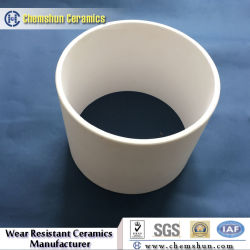 Industry Ceramic Pure Aluminium Oxide Cylinder Sleeve for Slurry Pipework
