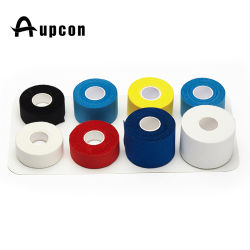 100% Cotton Custom Printed Wholesale Zinc Oxide Non Elastic Hockey Tape White Colored Athletic Sports Tape Bandage for Joint Protection