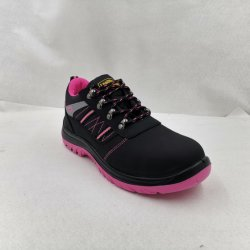 Black Pink Purple Women's Special Rigid Head Safety Shoes Sports Shoes