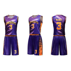 89c4a33e3779 100% Polyester Basketball Uniforms Jersey Sublimated Custom Logo Design  Tracksuits for Men Slim Fit
