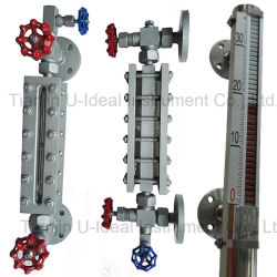 Hg5 Type See-Through Level Gauge-Water, Oil Magnetic Float Level Indicator- Glass Level Meter Sensor Switch Level Gauge