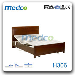 Good Price! ! Hospital Three Functions Wooden Electric Home Care Nursing Bed