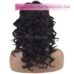 Brazilian Human Hair Custom Styles Lace Wig Bleahed Knots