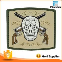 Custom Skull Tactical Morale Military Rubber PVC Hook & Loop Patch