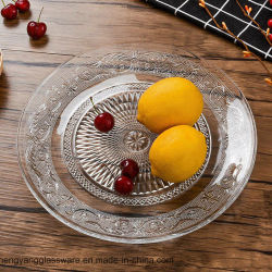 Wholesale Coining Rose Glass Plate Glass Fruit Dish