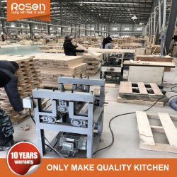American Modern Red Solid Wood Wholesale Kitchen Furniture