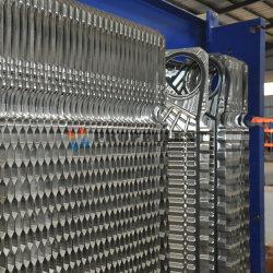 Wide Gap Free Flow Frame Plate Heat Exchanger