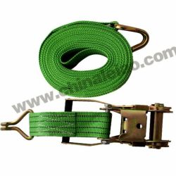 Green PP Ratchet Strap Cargo Lashing Belts with Competitive Price