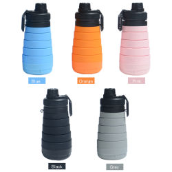 Factory Directly Supply 750ml Squeeze Silicon Plastic Sports Water Bottle 25oz Water Bottle