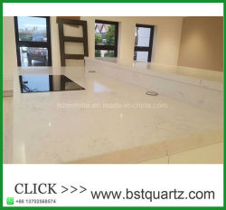 White Quartz Laminate Countertop Bar Top With Grey Veins