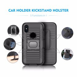 Customized Printed Car Holder Belt Clip Holster Kickstand Phone Case for iPhone X