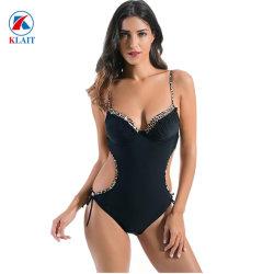 662087c55828 Wholesale One Piece Pure Color Sexy Hollow Backless Women Bikini