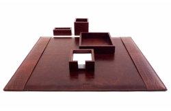 Leather Desk Set, Desk Pad, Pen Box (PB109)