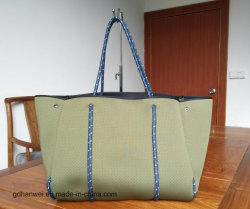 Perforated Neoprene Beach Tote Bag with Rope