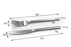 Outdoor Camping Sport Portable Stainless Steel Cutlery Set