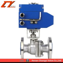 High Performance Electric Actuator Alloy Half Ball Valve for Industry