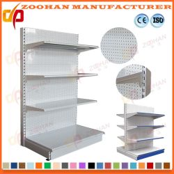 Good Quality Metal Punched Holes Supermarket Display Shelf Shelves (Zhs129)
