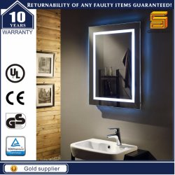 Certificated Wall Mounted Hotel Bathroom LED Backlit Lighted Mirror