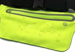 Lycra Running Outdoor Sport Waterproof Waist Bag with Earphone Hole
