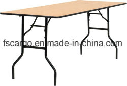 30''W X 72''L Rectangular Wood Folding Banquet Table W/Clear Coated Finished Top (CGT1611)