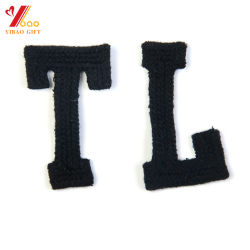 Alphabet Letter Badges MB Chenille Yarn Embroidery Design for Fashion Garment