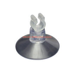 OEM Molded Transparent PVC/PP/PU Vacuum Suction Cup Holder with Hook