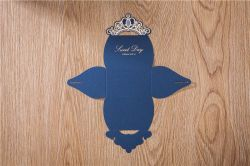 Luxury Navy Blue Candy Boxes Wedding Favor Box Gold Crown Craft Sweet Gift Bag Party Supplies