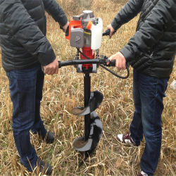 portable type earth drill garden tool gasoline digging holesground drill earth auger - Garden Auger