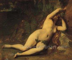 Beautiful Women Nude Body Painting on Canvas Ebf-027