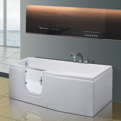 Hot Selling Safety Wheelchair Walk In Bathtub With Seat With Masage For  Handicapped Man