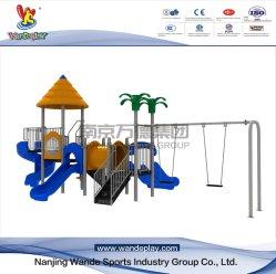 Plastic Slide Amusement Park Outdoor Playground Equipment with Swing
