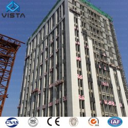 Portable Prefab Prefabricated Pre Engineered Assembled Arch General High Rise Light Metal Steel Structure Frame Workshop Warehouse Apartment Public Building