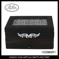 Wooden Jewellery Box Accept Custom Design for Home Decoration
