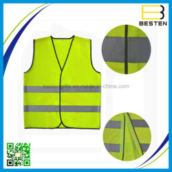 Workplace Safety Supplies Reflective Polyester Mesh Vests With Pockets For Construction Worker In Summer Silk Screen Company Logo Printing Safety Clothing