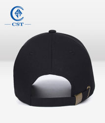Wholesale Custom Fashion Black Color 6 Panel Baseball Sports Cap