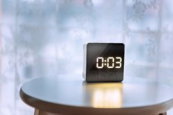 Mirror LED Table Digital Clock with Alarm